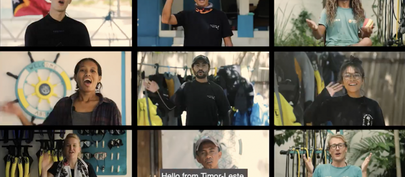 Looking to the post-COVID era: Dive Operators Working Group and MDF launch 'A message from Timor-Leste' promotional video