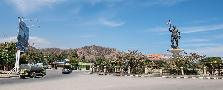 Timor-Leste: Transportation, Locomotive, Train, Vehicle, Intersection, Road, Engine, Machine, Motor, Steam Engine, Bicycle, Bike, Landscape, Nature, Outdoors, Scenery, Wagon, Offroad, Caravan, Van